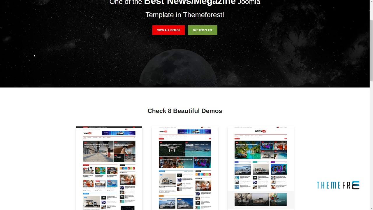 News247 Newsmagazine Newspaper Joomla Template Irvin Ned Youtube