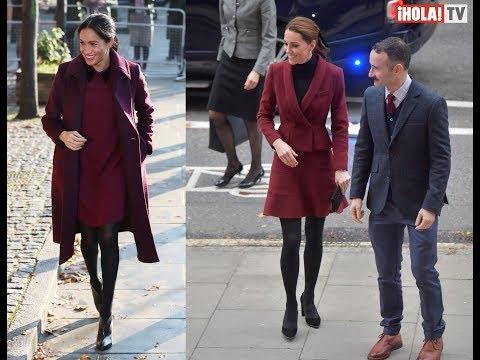 Meghan y Kate Middleton coinciden en vestir el mismo tono | Â¡HOLA! TV