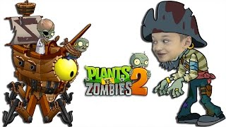 Plants vs Zombies 2 Растения против Зомби 2 ЗомБосс Пиратские моря ZOMBOSS battle in Pirate Seas