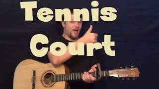 Tennis Court (LORDE) Easy Strum Guitar Lesson How to Play Tutorial Mp3