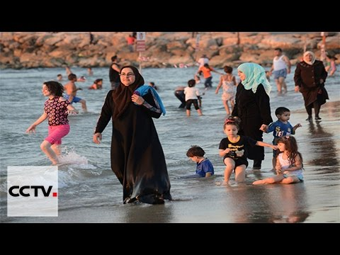 Children from West Bank visit sea for the first time