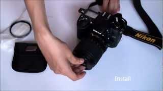 Tiffen 67mm Digital HT UV Filter Lens (unboxing & install)