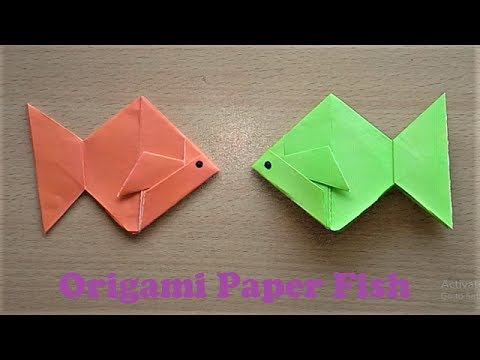 How To Make An Origami Paper Fish Step By Step Very Easy Origami