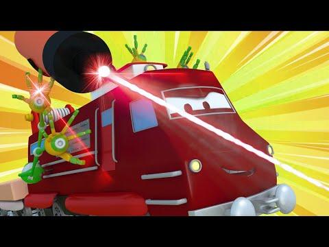Трой Супер Поезд спасает Железнодорожный город - Автомобильный Город ???? детский мультфильм