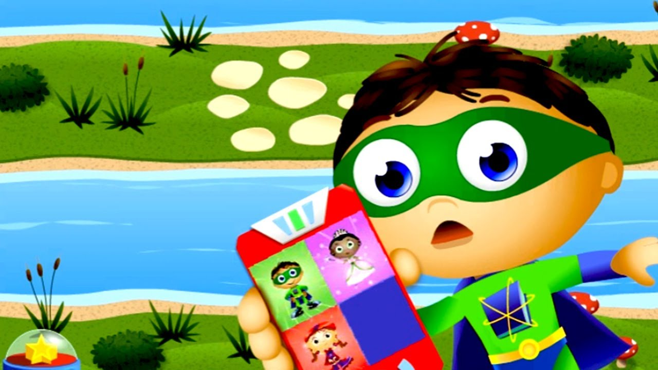 super why readers games calling cartoons