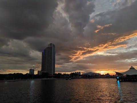 Menikmati Sunset Sore Hari Di Wisata Pantai Ancol Jakarta