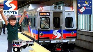 Johny's Subway Train Ride On SEPTA Subway Metro Train In Philadelphia To Transit Museum