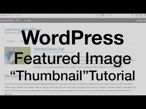 WordPress Featured Image Tutorial