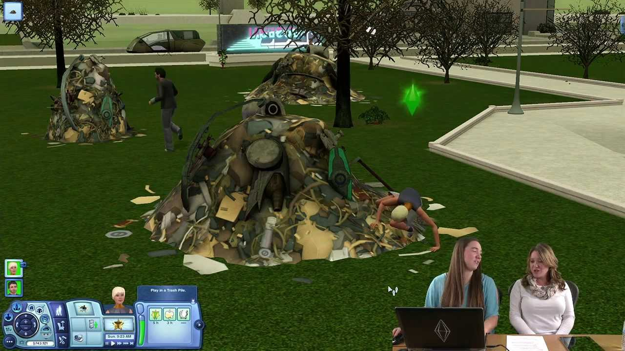 the sims 3 into the future gameplay dystopian future youtube