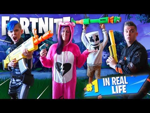 Fortnite In Real Life! (FUNhouse Family) NERF Blaster Battle Royale!