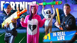 Fortnite In Real Life! (FUNhouse Family) NERF Blaster Battle Royale!
