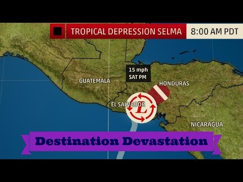 Tropical Storm Selma, First Northeastern Pacific Named Storm to Make Landfall in El Salvador!
