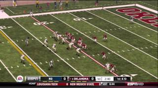 NCAA Football 13 Gameplay: Notre Dame at Oklahoma (Xbox 360) Week 9, 1st Qtr.