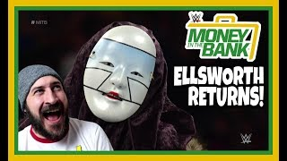 REACTION   JAMES ELLSWORTH REURNS TO HELP CARMELLA AGAINST ASUKA   WWE Money In The Bank 2018