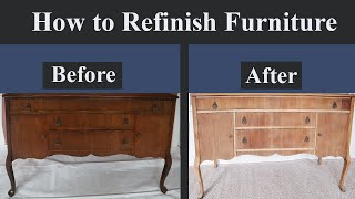 HOW TO REFINISH FURNÏTURE | DIY How to Strip Furniture