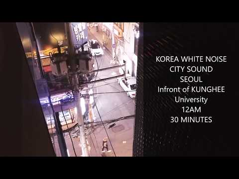 [KOREA WHITE NOISE] 12AM SEOUL CITY SOUND 30 minutes