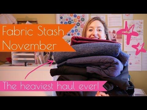 My Fabric Stash/Haul - NOVEMBER - Fabrics, Patterns and Plans