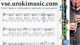 Уроки кларнета Imagine Dragons - Thunder Ноты Самоучитель um-i821