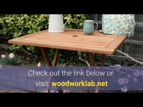 Best Garden Table Woodworking Plans - Patio Table Wood Plans for Beginners