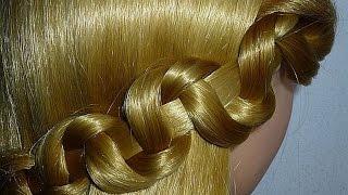 Быстрые причёски на каждый день самой себе в школу, на работу.Причёска для средних,длинных волос