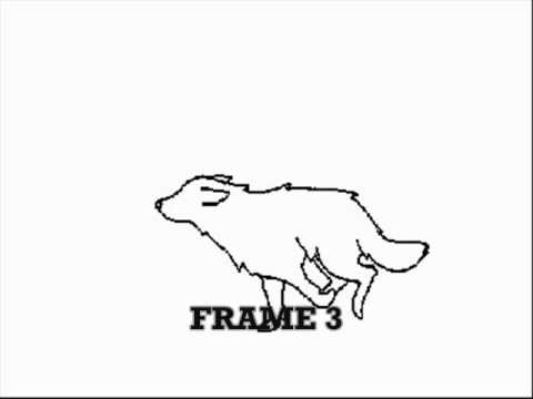 wolf run cycle tutorial 5 frames my best animation so far youtube - Wolf Picture Frames