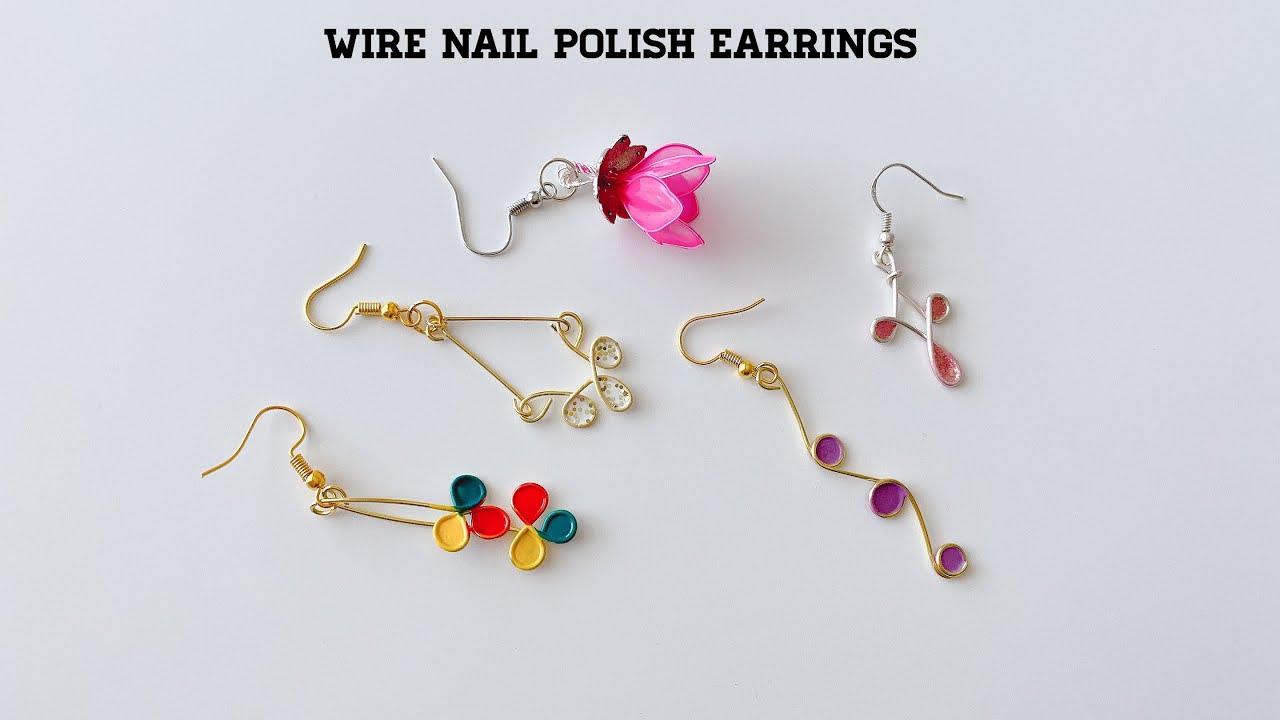 5 Easy Diy Earrings Make Beautiful Earrings Using Nail Polish And
