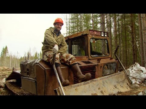 Englishman vs Russia: Men of the Forests. The tough work of Russian lumberjacks