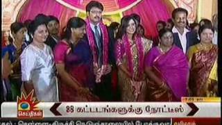 Durai Dhaya weds Anusha RECEPTION 17.11.10 tv News relay