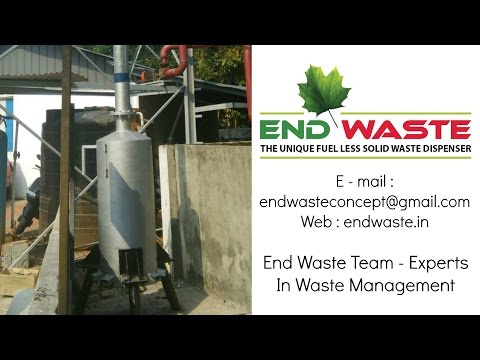 Home Made Waste Incinerator | Fuel Free Solid Waste Treatment Plant [ No Fuel Required ] Nowaste