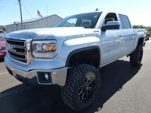2014 gmc sierra lifted white. 2014 gmc sierra 1500 sle 6 inch procomp lifted truck gmc white a