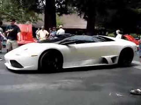White Lamborghini Murcielago Lp640 Roadster Youtube