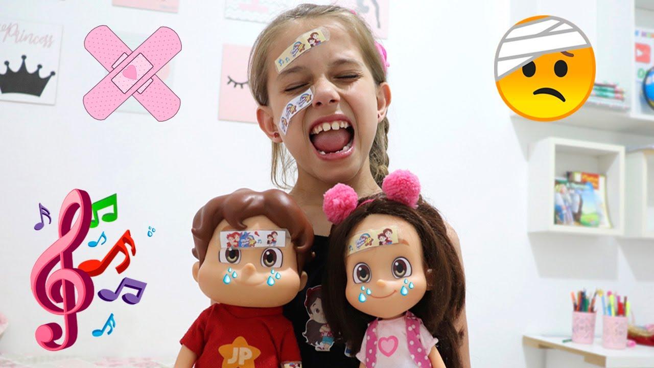 MÚSICA DO DODÓI COM BONECOS  MARIA CLARA E JP ♫ The Boo Boo Song! Nursery Rhymes Songs for Kids