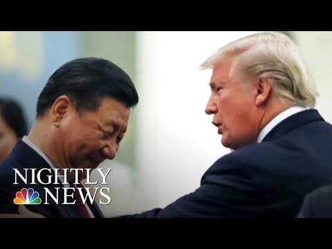 Donald Trump Talks China, North Korea In Impromptu Interview | NBC Nightly News