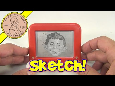 Pocket Size Etch A Sketch Toy, Ohio Art - Alfred E. Neuman