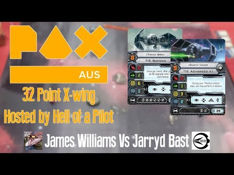 PAX 32 Point X-wing Tournamnet Battle Report - James Williams Vs Jarryd Bast