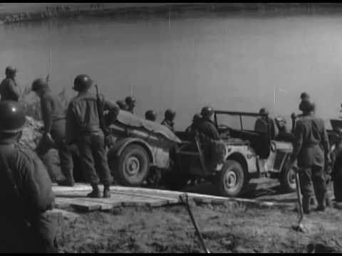 Strafing Planes and German Woman Soldiers; 86th Division Crosses the Danube; Infantry Support Raft