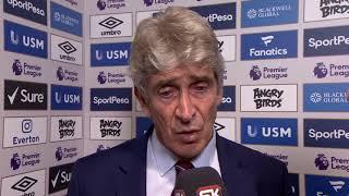 Izjava Manuela Pelegrinija Nakon Pobede Vest Hema na Evertonom | SPORT KLUB Fudbal