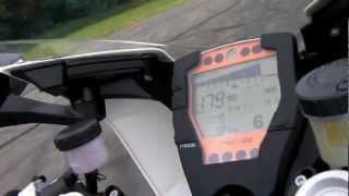 KTM RC8 R Top Speed Run