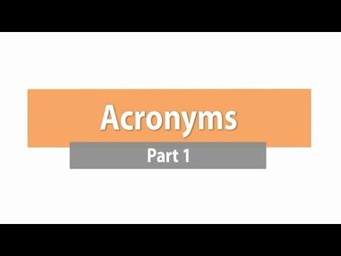 Acronyms - Part 1 ภาษาอังกฤษ ม.1-6