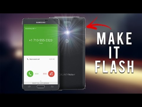 How To Actiavte Your Phone's CAMERA FLASHLIGHT As Incoming Call or Message