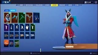 Fortnite Krampus Skin Showcase | Hidden Feature while you Emote!!!! | WTH!