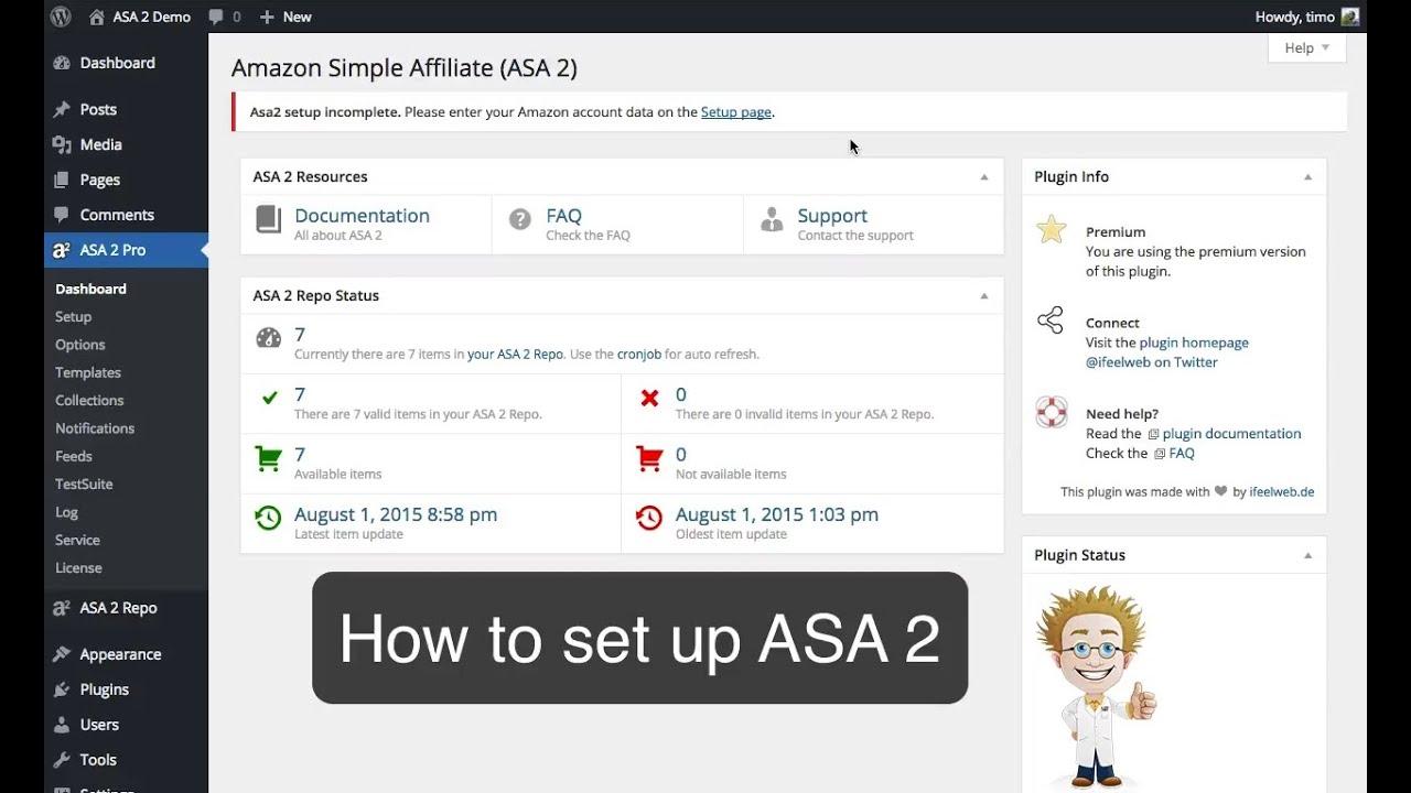Setup — Amazon Simple Affiliate (ASA 2) 1 10 4 documentation