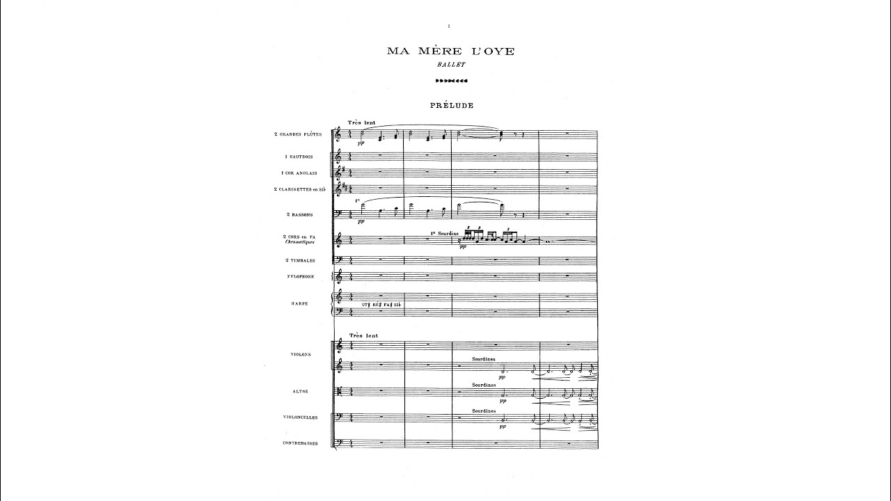 Maurice Ravel Ma Mère L Oye Ballet With Score Youtube