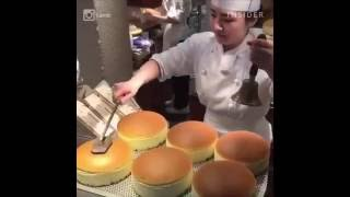 有趣影片 , 日本大阪銘果老爺爺起司蛋糕 , Japanese cheesecakes