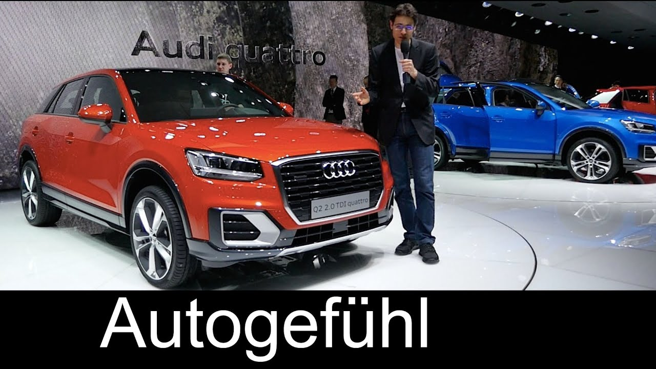 Audi Q2 REVIEW premiere Exterior/Interior/Colours all-new small SUV neu - YouTube