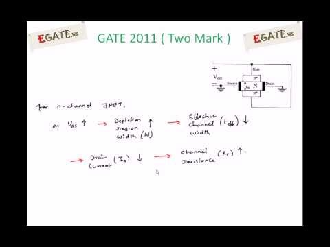 Problem on Channel Resistance of JFET - GATE 2011 Solved paper (Electron Devices) - 2