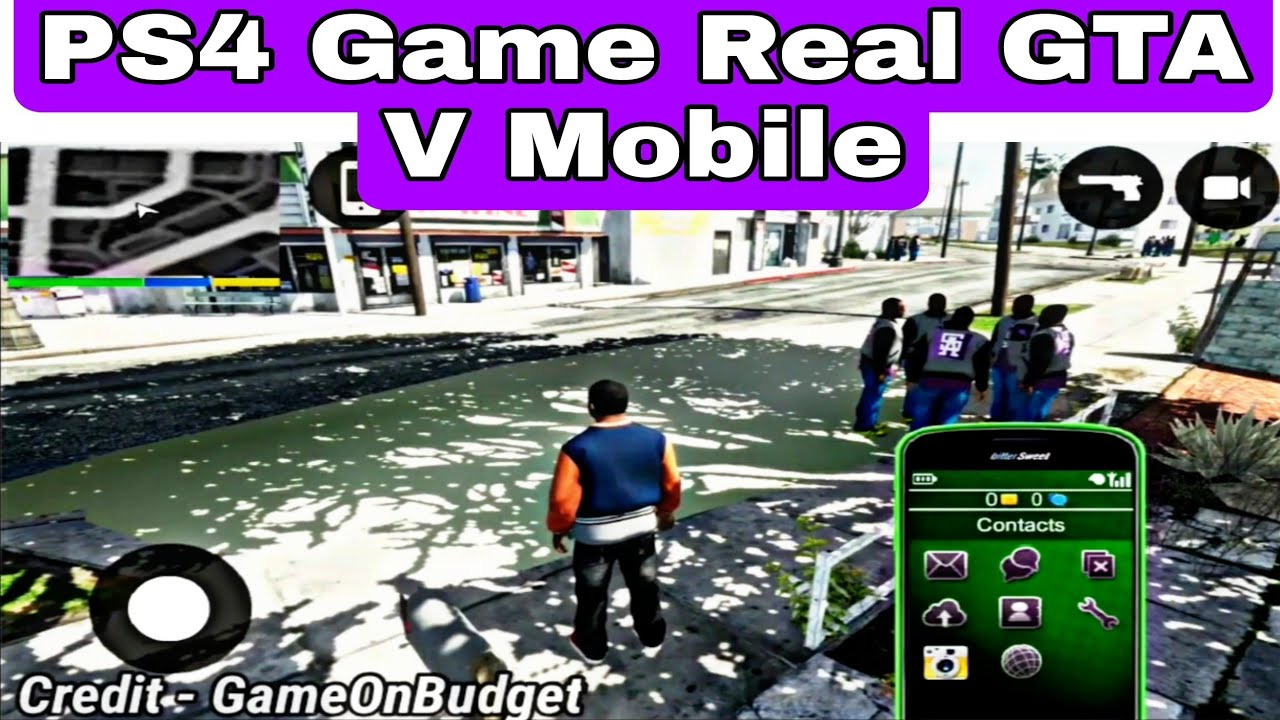 PS4 Game | Real GTA V Full Game | Android Device 100% Working 🎮👍