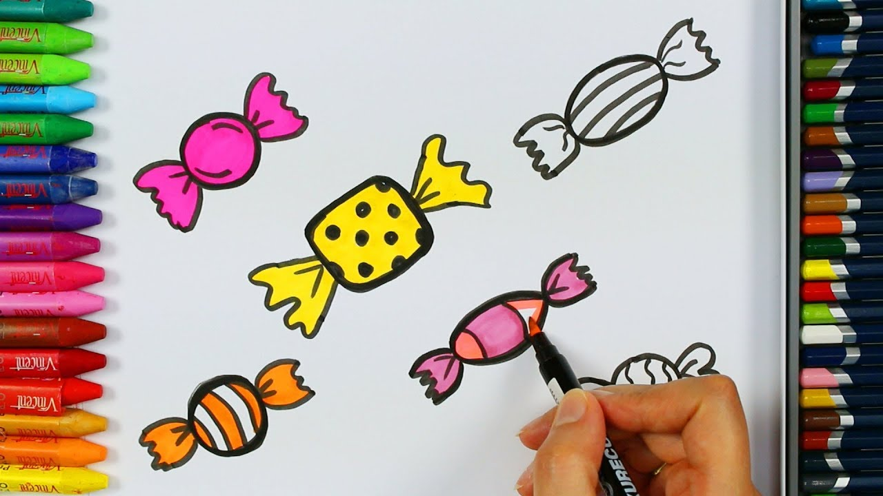 Süßigkeiten Malvorlagen 🍬 | Wie zeichne | Malbuch | Farben für ...