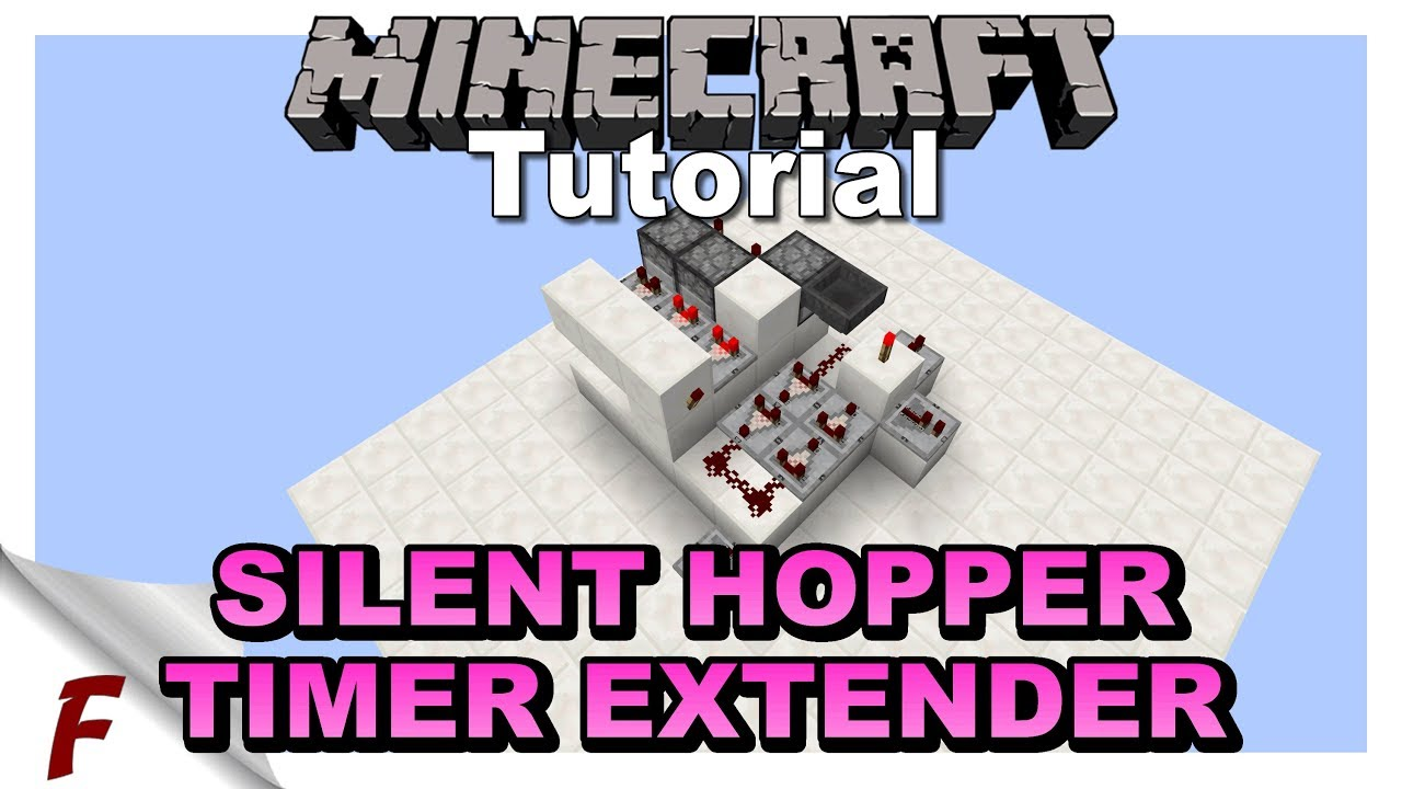 ✅ Minecraft Silent Adjustable Hopper Timer Extender Clock Tutorial How To  Video