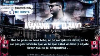 "Farruko - ""Mañana te Llamo"" con Letra ★New Reggaeton 2011★"